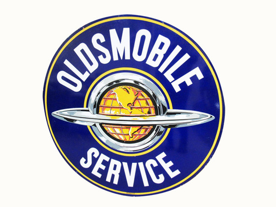 1950S OLDSMOBILE SERVICE PORCELAIN SIGN