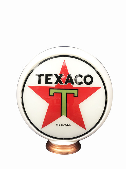 CIRCA 1936 TEXACO OIL GAS PUMP GLOBE