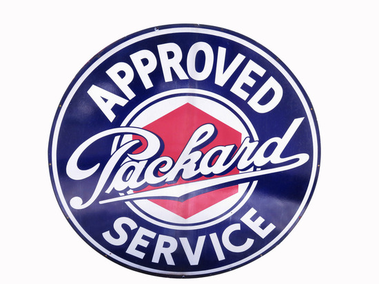 1930S PACKARD AUTOMOBILES PORCELAIN SIGN