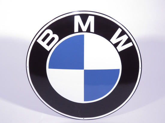 1960S BMW PORCELAIN SIGN