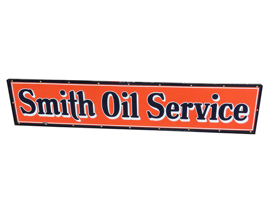 LATE 1920S-EARLY '30S SMITH OIL SERVICE PORCELAIN SIGN