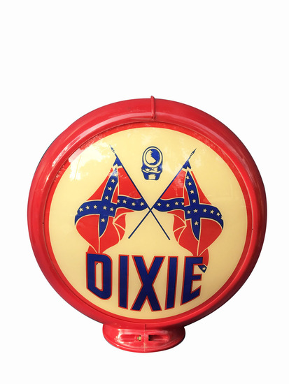 1950S DIXIE GASOLINE GAS PUMP GLOBE