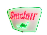 LATE 1950S SINCLAIR OIL PORCELAIN WITH ANIMATED NEON SIGN