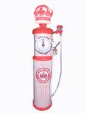 STANDARD OIL ORANGE CROWN AVIATION GASOLINE CLOCK-FACE GAS PUMP
