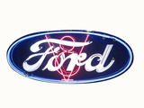1930S FORD V8 PORCELAIN WITH NEON SIGN