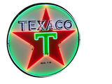 1955 TEXACO OIL PORCELAIN SIGN WITH ANIMATED NEON