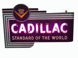 CIRCA 1940S-50S CADILLAC NEON SIGN