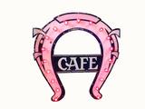 1920S HORSESHOE CAFÉ... PORCELAIN AND LIGHTED-BULB SIGN