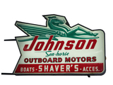 LATE 1950S-EARLY '60S JOHNSON SEA HORSE OUTBOARD MOTORS LIGHT-UP SIGN