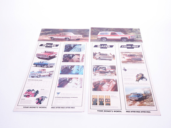 LOT OF TWO CIRCA 1976-78 CHEVROLET DISPLAY CARDBOARDS