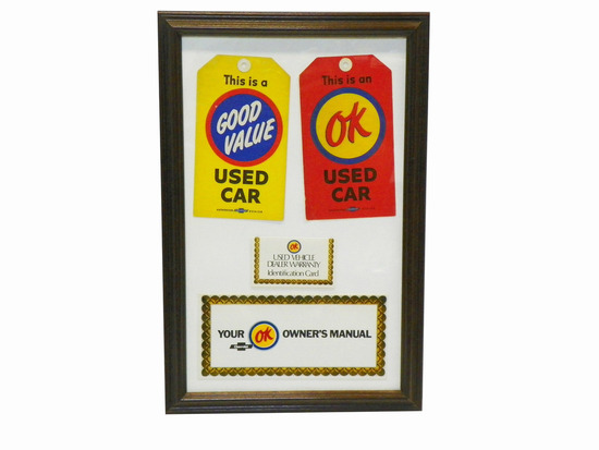 1950S-60S CHEVROLET OK AND GOOD VALUE PROMOTIONAL ITEMS