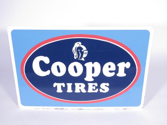 CIRCA 1960S COOPER TIRES TIN SIGN