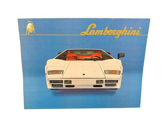 LAMBORGHINI COUNTACH LP500S SALES BROCHURE