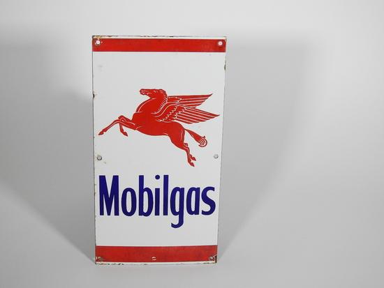 CIRCA 1940S MOBILGAS PORCELAIN SIGN