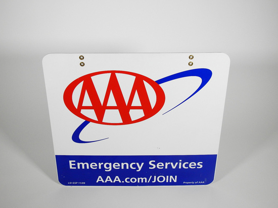 NEWER AAA EMERGENCY SERVICES TIN SIGN