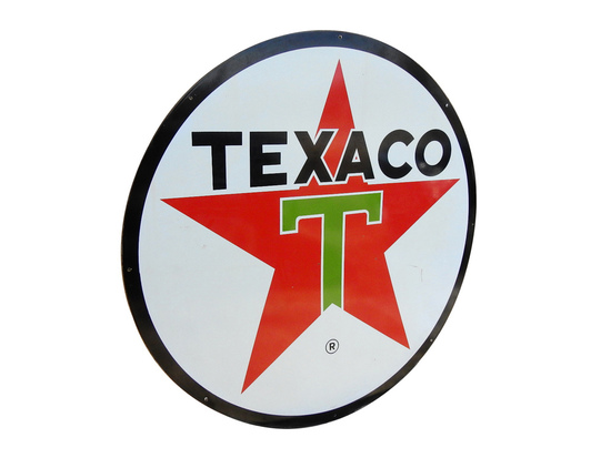 LARGE 1962 TEXACO OIL PORCELAIN SIGN