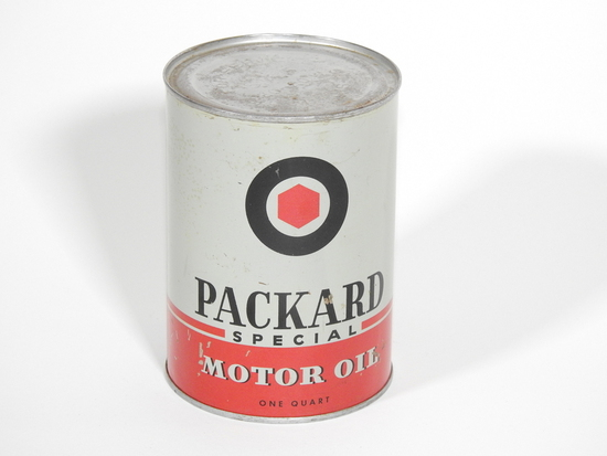 1940S PACKARD SPECIAL MOTOR OIL METAL CAN