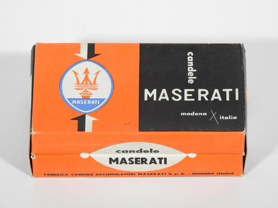 CIRCA 1960 MASERATI SPARK PLUGS BOX