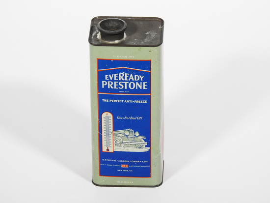 1929 EVEREADY PRESTONE ANTI-FREEZE METAL CAN