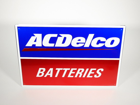 AC DELCO BATTERIES EMBOSSED SIGN