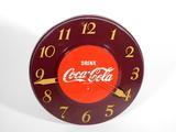 1940S-50S COCA-COLA METAL ELECTRIC WALL CLOCK