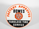 LATE 1950S BOWES SEAL FAST TUBELESS TIRE SERVICE TIN SIGN