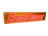 LARGE CIRCA 1962 ROAD RUNNER GASOLINE NEON PORCELAIN MARQUEE SIGN