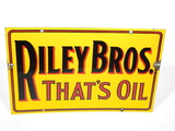 1930S RILEY BROTHERS PORCELAIN SIGN