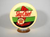 CIRCA 1940S TEXACO SKY CHIEF GAS PUMP GLOBE