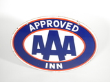 CIRCA 1950S-60S AAA APPROVED INN PORCELAIN SIGN