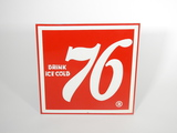 EARLY 1960S 76 SODA EMBOSSED TIN SIGN