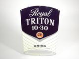 EARLY 1960S ROYAL TRITON MOTOR OIL TIN SIGN