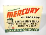 1950S KIEKHAEFER MERCURY OUTBOARD MOTORS EMBOSSED SIGN