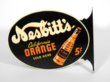NESBITT'S CALIFORNIA ORANGE SODA TIN FLANGE SIGN