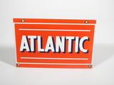 1950S ATLANTIC GASOLINE PORCELAIN FUEL PUMP PLATE SIGN