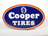 1950S COOPER TIRES  EMBOSSED TIN SIGN