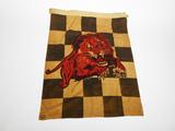 CIRCA 1930S-40S GILMORE OIL CHECKERED RACING FLAG