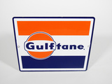 EARLY 1960S GULFTANE GASOLINE PORCELAIN PUMP PLATE SIGN