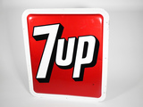 LATE 1960S 7UP SODA EMBOSSED TIN SIGN