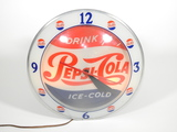 1950S DRINK PEPSI-COLA DOUBLE-BUBBLE LIGHT-UP CLOCK