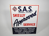 1950S SKELLY APPROVED SERVICE TIN SIGN