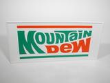 1970S MOUNTAIN DEW SODA TIN SIGN