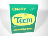 LATE 1950S-EARLY '60S TEEM SODA TIN SIGN