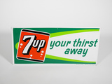 EARLY 1960S 7UP EMBOSSED TIN SIGN