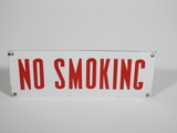 CIRCA 1950S NO SMOKING PORCELAIN SIGN