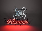 Awesome newer Hamm's Beer neon tavern sign with Hamm's Bear head logo.