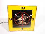 Desirable 1960s Winchester Arms glass-faced light-up dealer clock.