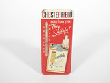 Circa late 1950s-early 60s Chesterfield Cigarettes single-sided tin thermometer.