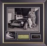 Beautifully framed Carroll Shelby signed check with display.