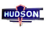 1930S-40S HUDSON AUTOMOBILES NEON PORCELAIN SIGN